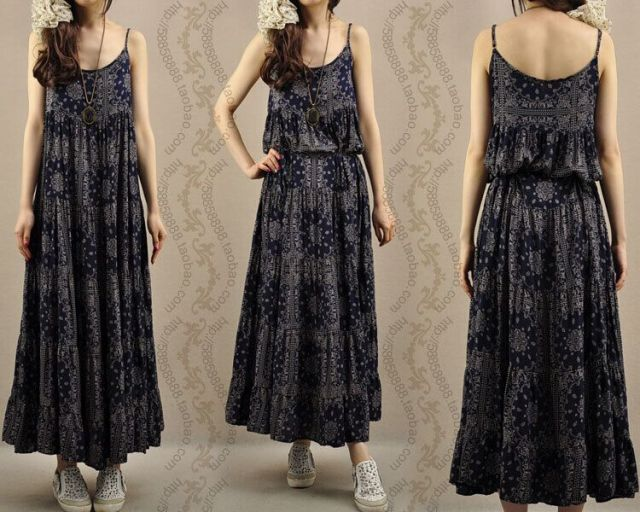 LONG DRESS CHIFFON KOREA - JYY355029 DarkBlue(0)