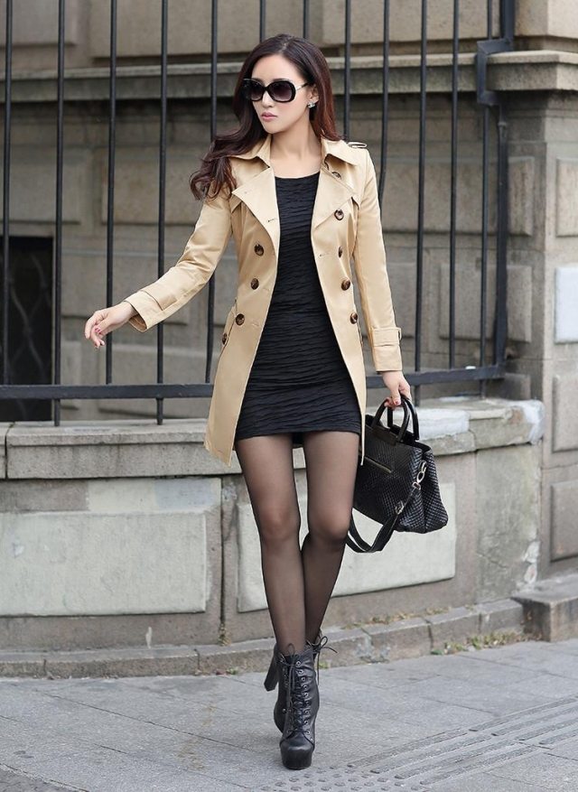 LONG COAT WANITA KOREA - Khaki Twill Blazer
