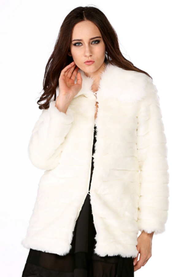 JAKET BULU BIG SIZE - Korean White Fur Coat