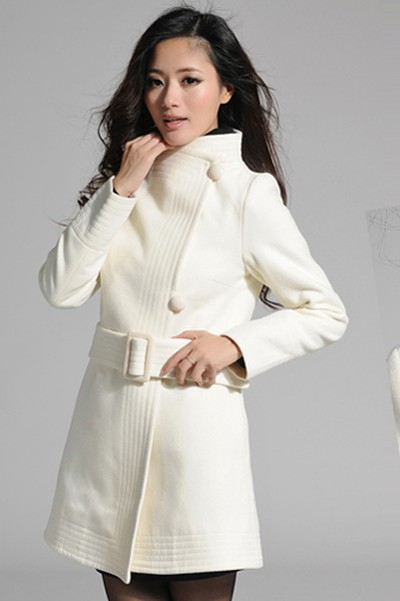 LONG COAT KOREA - OffWhite Woolen Coat