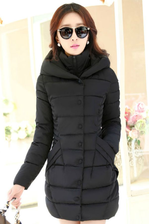 JAKET MUSIM DINGIN KOREA - Black Padded Jacket