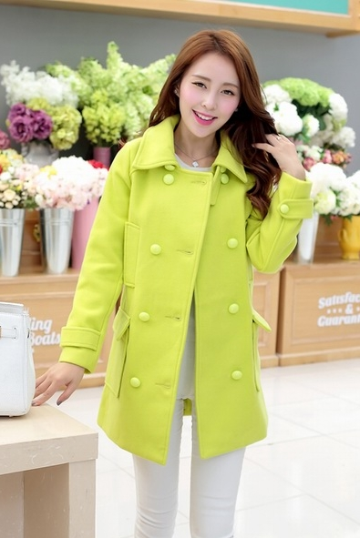COAT WANITA KOREA - Green Korean Long Coat