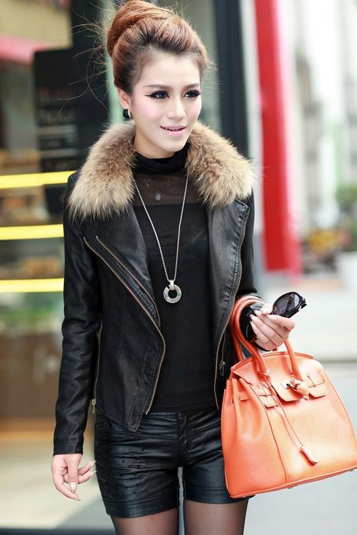 JAKET KULIT WANITA  - Woman Leather Fur Coat