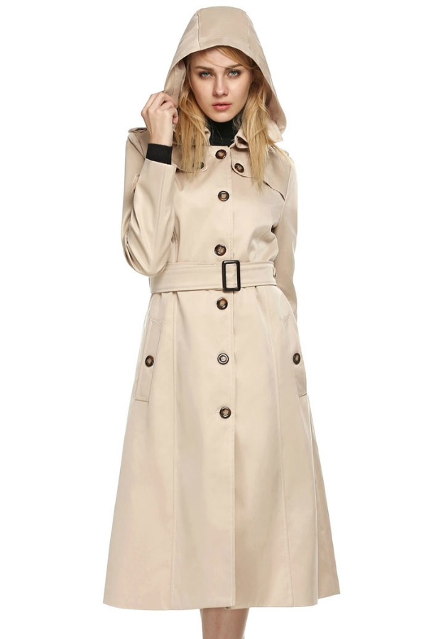LONG COAT WANITA KOREA - Khaki Korean Long Coat
