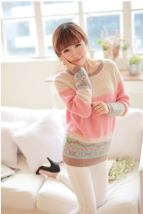 SWEATER KOREA STYLE - Candy Knitting Sweater