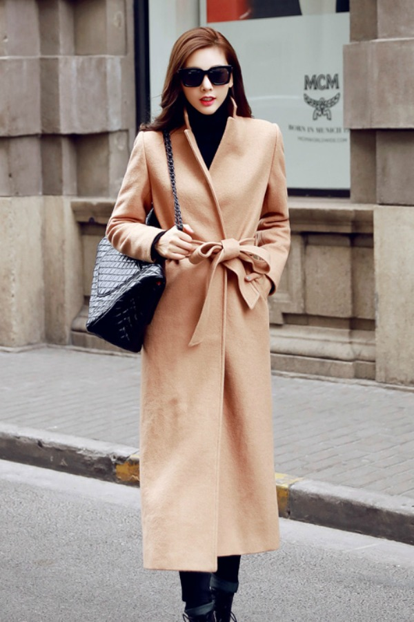 LONG COAT WANITA KOREA - LIGHTTAN WOOLEN COAT