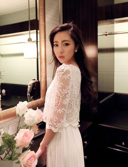 LONG DRESS KOREA - Beautiful White Long Dress
