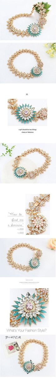 KALUNG FASHION KOREA -  Diamond Decorated Necklace