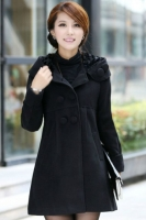 LONG COAT KOREA - Black Hoodie Coat