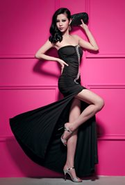BAJU PESTA KOREA ONLINE - Black Glam Dress