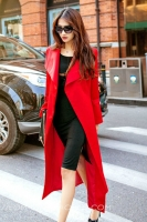 LONG BLAZER WANITA KOREA - Red Long Blazer
