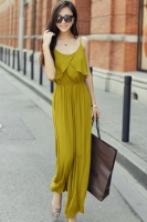 JUMPSUIT KOREA - Yellow Korean Bibpants
