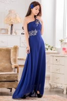 LONG DRESS PESTA - Blue Chiffon Party Dress