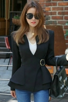 BLAZER WANITA KOREA - With Belt Black Women Blazer