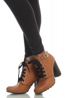 SEPATU ANKLE BOOTS KULIT - Brown Genuine Ankle Boots