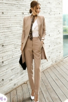 OFFICE SET WANITA KOREA - Blazer + Trousers