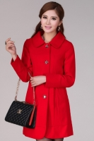 LONG COAT KOREA - Red Charming Woolen Coat