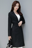 LONG COAT WANITA KOREA - Black Windbreaker
