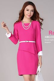 DRESS CANTIK - Rose Korean Dress (With Belt)