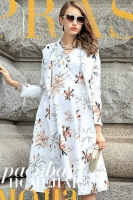 DRESS WANITA KOREA - Floral 2 Pcs Long Coat