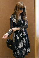 DRESS CHIFFON KOREA - BIGSIZE KIMONO Korean Dress