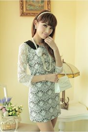 DRESS LACE KOREA - European Lace Dress