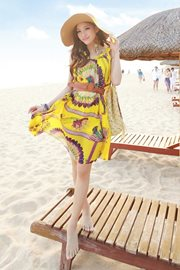 BAJU KOREA STYLE - Fresh Yellow Summer Dress