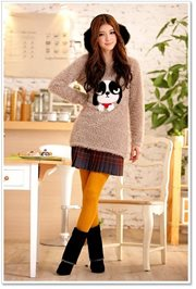 Coffee Fur Sweater - SWEATER BULU KOREA STYLE