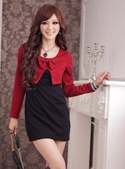 Red Simple Glamour Dress - BAJU IMPORT
