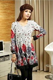 Red Long sleeved Cotton - BAJU IMPORT ONLINE