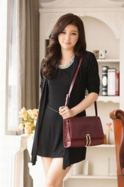 BAJU KOREA ASLI JK2 - Black Dress n Belt