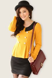 DRESS CANTIK KOREA - Yellow Fresh Dress