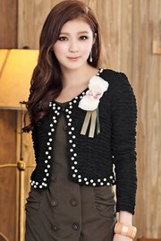 BAJU KOREA -  Black Pearl Jacket