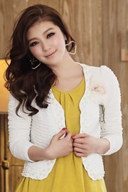 BAJU IMPORT KOREA - White Pearl Jacket