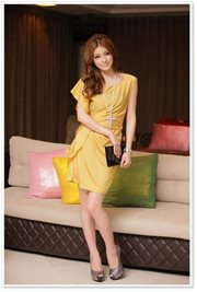 Yellow Simple chic Dress - BAJU IMPORT