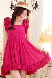 DRESS CANTIK KOREA - Rose Chiffon Dress