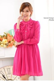 DRESS WANITA - Rose Vintage Chiffon Dress