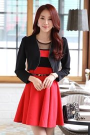 DRESS CANTIK WANITA - 2Pcs Big Size Dress