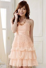 BAJU PESTA IMPORT - Pink Salem Party Dress