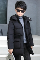 JAKET BULU ANGSA ANAK - Black Down Coat for