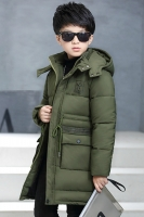JAKET BULU ANGSA ANAK - Green Down Coat for
