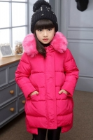 JAKET BULU ANAK - Fur Rose Down Coat for Children