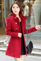 JAKET MUSIM DINGIN - RED Woolen Coat