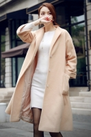 LONG COAT WANITA KOREA BIGSIZE - LightTan Long Coat