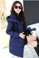 JAKET MUSIM DINGIN KOREA - Navy Padded Jacket