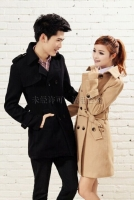 JAKET KOREA PRIA - Black Big Size Men Coat