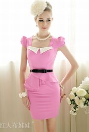 BAJU KOREA STYLE - Pink Korean Cotton dress
