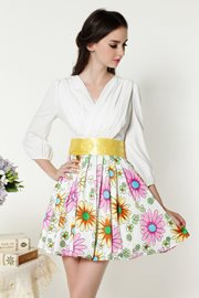 BAJU KOREA STYLE - Floral Romantic Dress