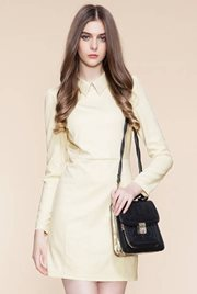 DRESS CANTIK KOREA STYLE - Apricot Beauty Dress