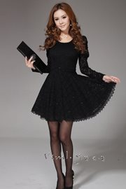 DRES LACE - Black elegant Lace Dress